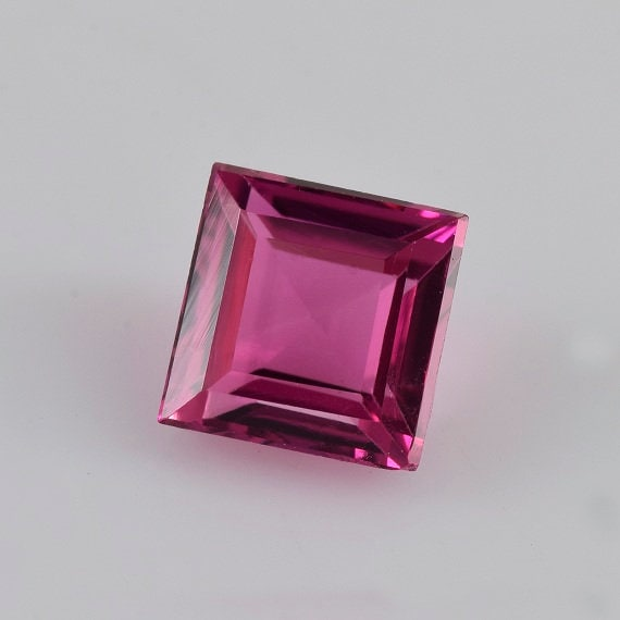 0.50 cts Tourmaline Tourmaline cts rose naturelle 4.5x4.5x2.9 mm Pierre gemme carrée - 100% naturelle Tourmaline rose gemme - Tourmaline rose - TUPNK-1010 de2311