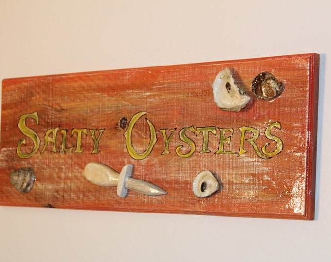 Cypress Wood Oyster Sign