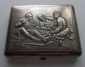 Russian Antique Melchior cigarette case Hunter. 1950