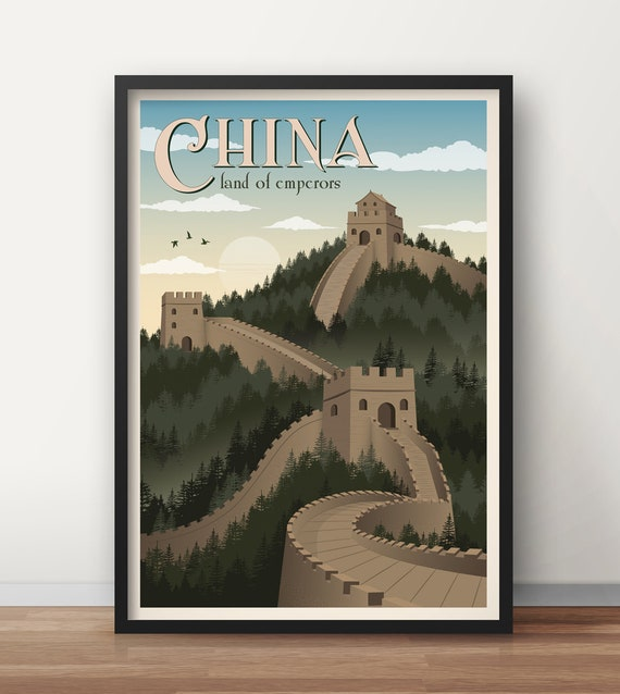 Great Wall of China 24x36 inch rolled wall poster