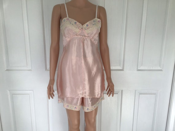 Vintage 1940's Camisole and Knickers - Pyjamas - S