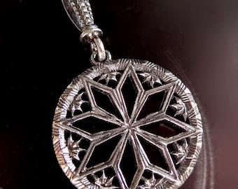 Nordic Morning Star Pendant-Ausekla Zvaigzne-Star of Auseklis-amulet-Alatir