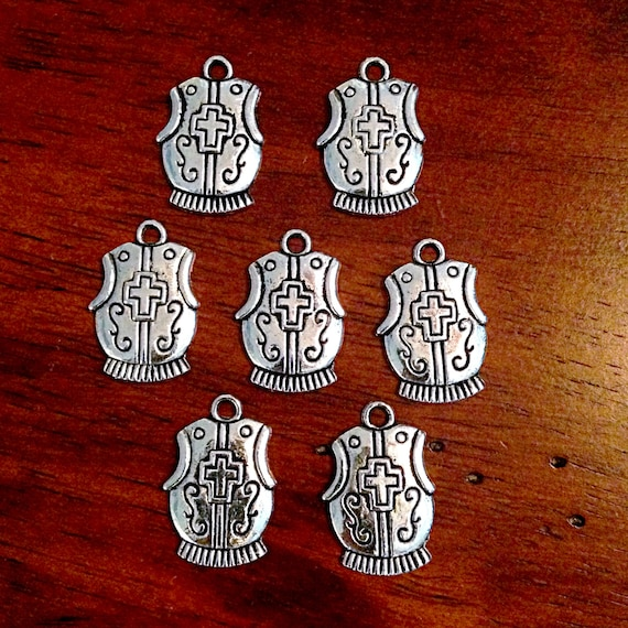BULK 20 Breastplate Charms, Breast Plate Charms, Breastplate of  Righteousness Charm, Armor of God, Findings, Craft and Jewelry Supplies
