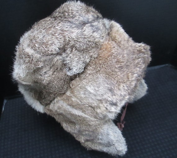 Vintage Men s Mad Bomber Rabbit Fur Trapper Hat with  2814f18baa83