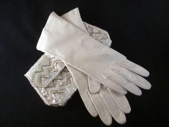4d6fceef2 Vintage Aris Light Ivory Beige Cream Soft Leather with 100% Silk Lining |  Etsy