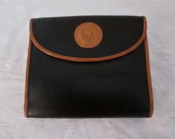 Vintage Christian Dior Black & Cognac Billfold Wallet.