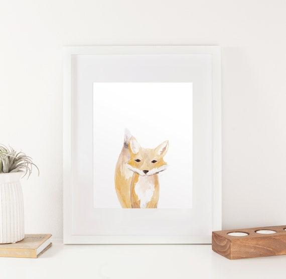 Tails Baby Fox Nursery Print Etsy