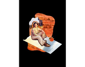 Wall Art Unique Gift Decor Abstract Whimsical Analog Collage Oracle Collage Postcard Print