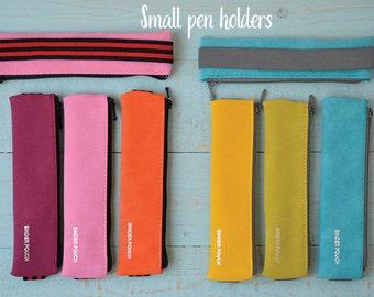 Small Journal pen case- Small planner pen holder-pencil holder-Binder pouch