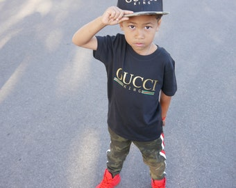 28df6e02efa Gucci King Inspired- Baby Toddler Youth Kids Adult Unisex Graphic T-shirt  Tee