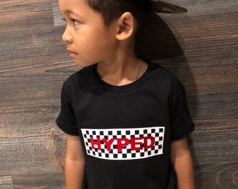 680948ccd4 Hyped- Baby Toddler Youth Kids Adult Unisex Graphic T-shirt Tee Vans