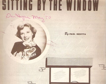 Sitting By The Window,  Sheet Music, Vintage 1949