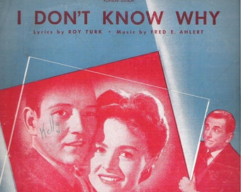 I Don't Know Why, Sheet Music, Vintage 1931
