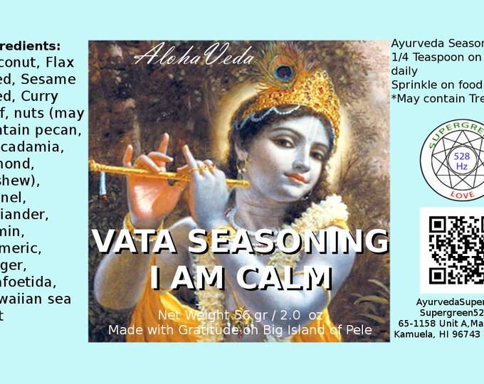 I am Calm - Ayurveda Seasoning, Spice - Ayurveda Superfood - Maui Hawaii