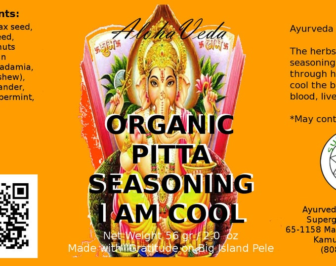 I am Cool - Ayurveda Spice Seasoning - Ayurveda Superfood - Created on Maui Hawaii