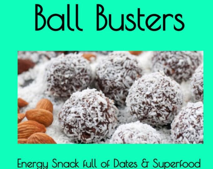 Ayurveda - Ball Busters - Organic - Superfood - Dates - Coconut - Acai - Spirulina - Awesomeness - Healthy Snack