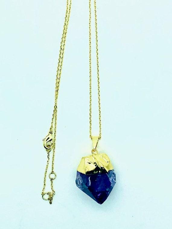 Amethyst Pendent Gold Chain - Spiritual Jewelry - AlohaVeda - Ayurveda Superfood - Hawaii - Ayurveda - Maui