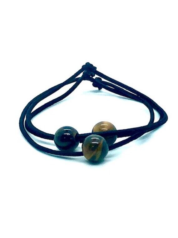Hair Ties - Tigers Eye - Spiritual Jewelry - AlohaVeda - Ayurveda Superfood - Hawaii - Maui - Hand Made - Love