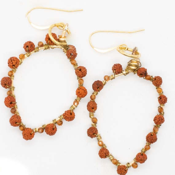 Rudraksha Laksmi - Citrine -Jupiter - Thursday - Astrology - Ayurveda Spiritual Jewelry - AlohaVeda - Ayurveda Superfood - Ayurveda Maui