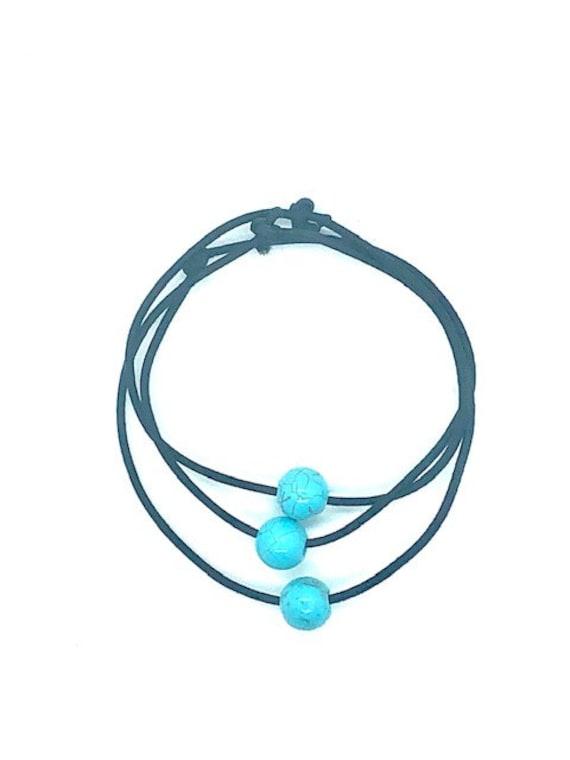 Hair Tie - Elastic - Turquoise - Spiritual Jewelry - AlohaVeda - Ayurveda Superfood - Hawaii - Ayurveda - Maui - Hand Made