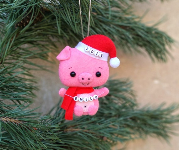 Christmas Decorations.Christmas Decorations Pink Pig Gifts For Kids Little Piggy Decor Christmas Gifts For Friends New Year Gift Personalised Christmas Tree Decor