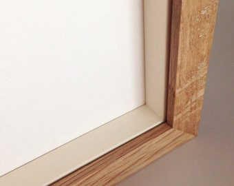 Natural Oak/Ash Wood Box Frame All Standard Sizes from A3 to A1 + Square with Gallery Acrylic