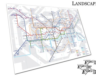London tube map   Etsy