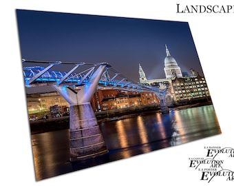 London Millennium Footbridge St Paul's Cathedral The City Poster Print X1498