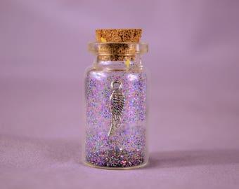 Angel Wing Wish-In-A-Bottle