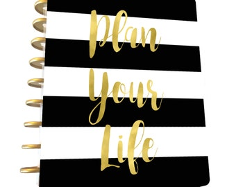 Plan Your Life, Happy Planner Cover,Erin Condren Planner Cover,Instant Download,MAMBI,Planner Accessories,Happy Planner,Motivational Planner