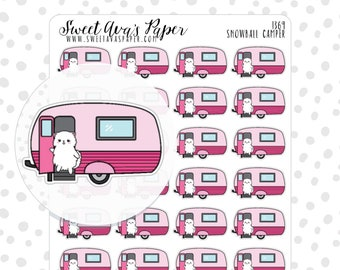 tent planner stickers camp out planner stickers camping etsy