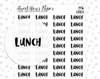 Lunch Planner Stickers - Script Planner Stickers - Lettering Planner Stickers - Typography Stickers - Text Planner Stickers - 2476