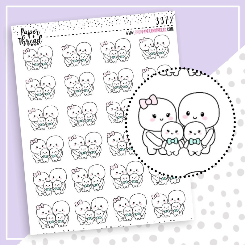 Family Time Planner Stickers  Parent Planner Stickers  image 0