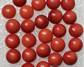 21.60 Cts 12 Pcs Loose Coral Gemstone Red Coral Cabochon Oval 7X9 mm B104