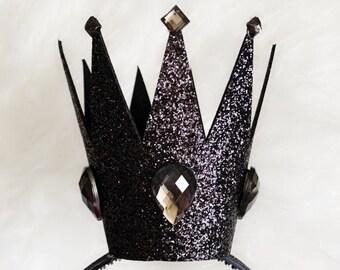 The Evil Queen crown,Ursula crown,Mermaid Witch crown,villain Halloween costume,queen of hearts,Evil costume,Snow White step mom,Dark Purple