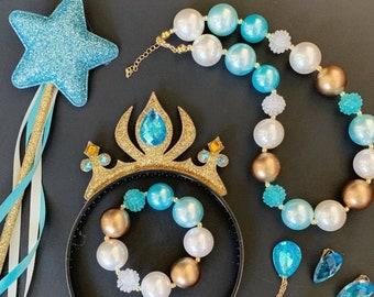 Aladdin Jasmine Crown,Jasmine Elastic Headband,Jasmine Wand,Princess Jasmine crown,disney crown,Jasmine Accessory,Aladdin Necklace,Tiara