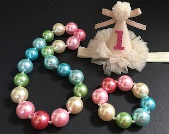 SALE!!!,Rainbow Chunky Necklace,Rainbow Baby Necklace,Rainbow Bubblegum necklace,Rainbow necklace,Rainbow Chunky Necklace,Rainbow Birthday