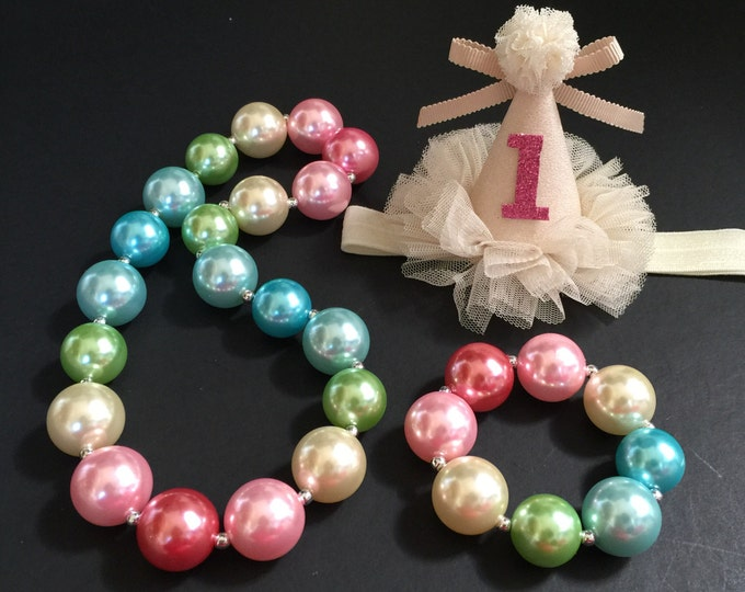 SALE!!!,Rainbow Chunky Necklace,Rainbow Baby Necklace,Rainbow Bubblegum necklace,Rainbow necklace,Rainbow Chunky Necklace,Rainbow Birthday