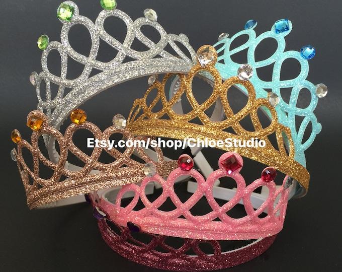 Birthday Crown,Cinderella Crown,Birthday Headband,princess Crown,Elsa Crown,Elsa Headband,Pink Crown,crown headband,Belle crown,Aurora crown