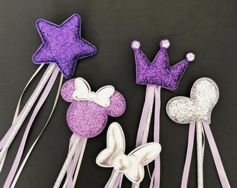 Purple Wand,Princess Sofia Wand,Tangled Wand,Tangled theme,Disney Rapunzel Wand,birthday Wand,Purple and silver,Sofia outfit,Rapunzel outfit