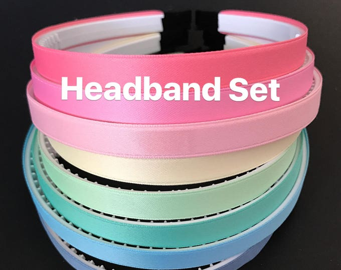 Headband Set,Kids Headband Set,Ready for school,back to school headband,Plastic Headband,DIY supply,DIY Headband,School Uniform,School