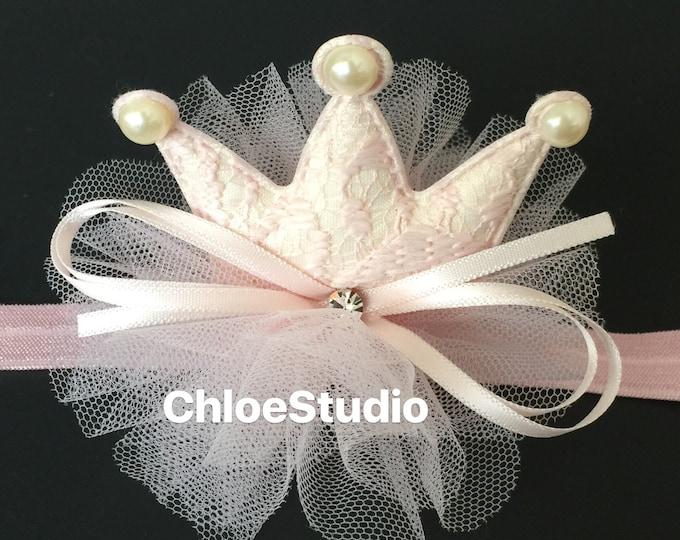 Birthday Crown,Ballerina Headband,Ballerina Crown,Crown Headband,baby shower gift,1st birthday,birthday crown,flower girl crown,felt crown