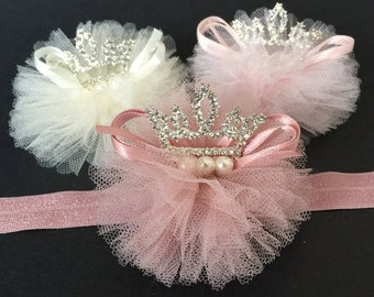 Tiara Headband,Crown Headband,Baby Crown Headband,baby shower gift,first birthday headband,party headband,photo prop,baby tiara,infant crown