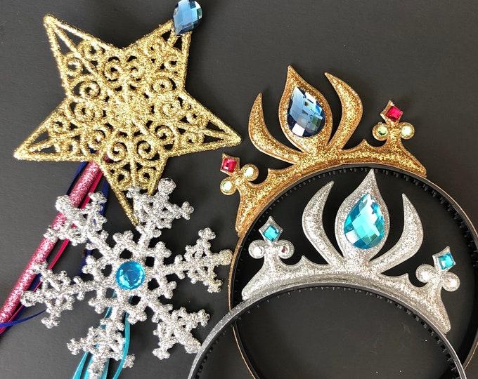 Anna Crown Headband,Anna Wand,Snowflake Wand,Anna Scepter,Anna Costume,Anna Dress,Elsa Crown,disney princess crown,Birthday crown,baby crown
