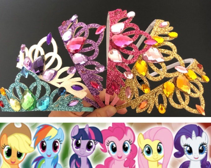 My Little Pony Crown,My Little Pony costume,My Little Pony theme,Rainbow Crown,My Little Pony headband,My Little Pony tiara,Pony Birthday