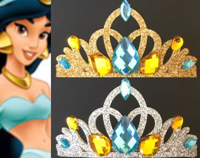 SALE!!!,Jasmine Crown,Jasmine Elastic Headband,Jasmine headband,Aladdin Jasmine crown,Princess Jasmine crown,disney crown,Jasmine Accessory