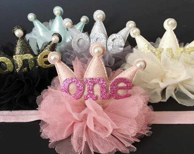 Crown Headband,Birthday Crown,Birthday Baby,baby shower gift,first birthday headband,first birthday,birthday girl,second birthday,baby crown