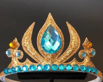 Jasmine Crown,Jasmine Elastic Headband,Jasmine outfit,Aladdin costume,Princess Jasmine costume,disney crown,Jasmine Accessory,Birthday crown