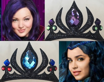 Descendants Crown,Disney Descendants 2,Devil Crown,Witch Crown,Maleficent Crown,Snow White step mom,Witch Costume,Devil Costume,Demon Crown
