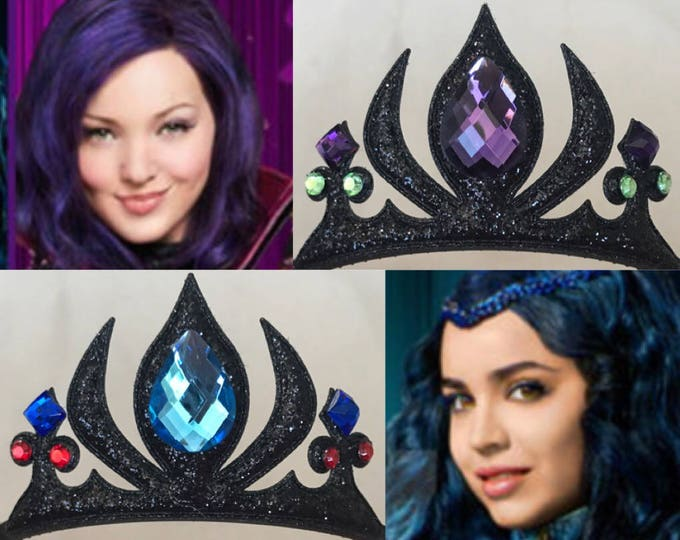 Disney Descendants 2 Crown,Devil Crown,Witch Crown,Maleficent Crown,Snow White step mom,Witch Costume,Devil Costume,Demon Crown,Black Crown
